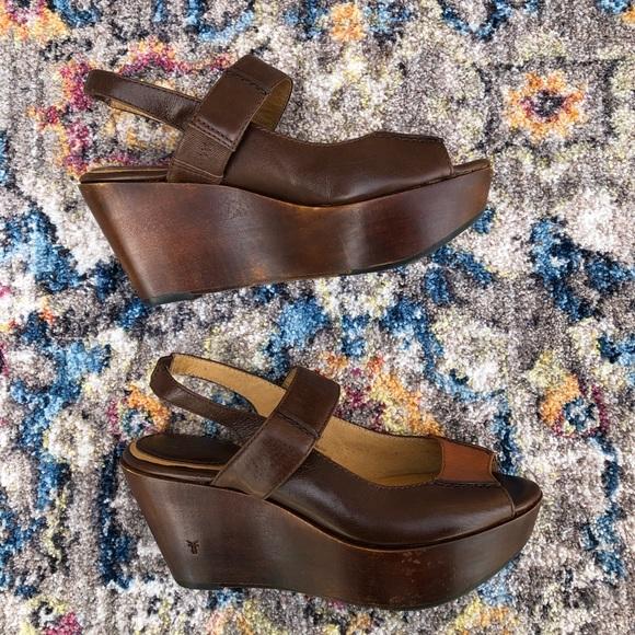 0533e952065 Frye Shoes - Frye Blair Slingback Platform Wedge Sandals